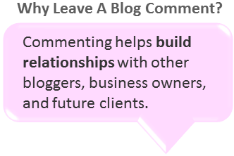 why leave blog comments