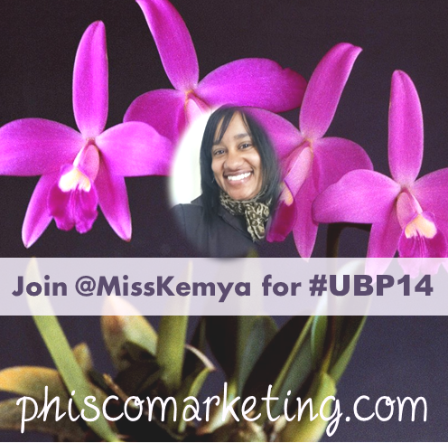 Miss Kemya blogging with UBP14