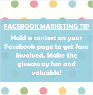 facebook marketing tip contests