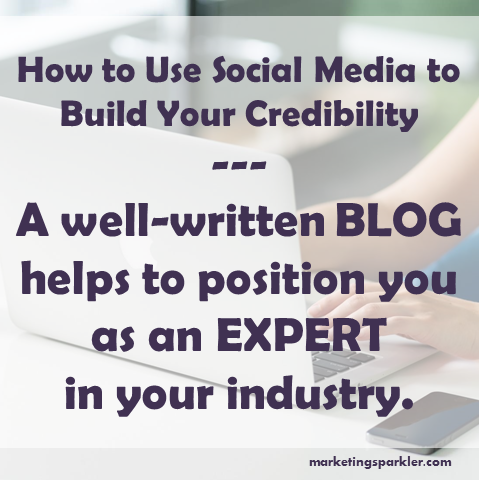 use social media to build credibility tip