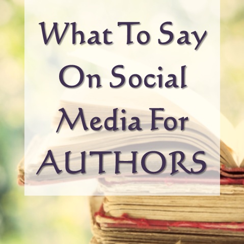 what to say on social media for authors