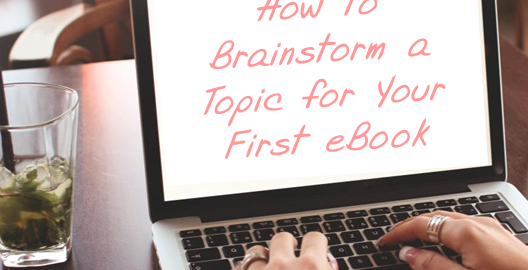 How to brainstorm topic for ebook