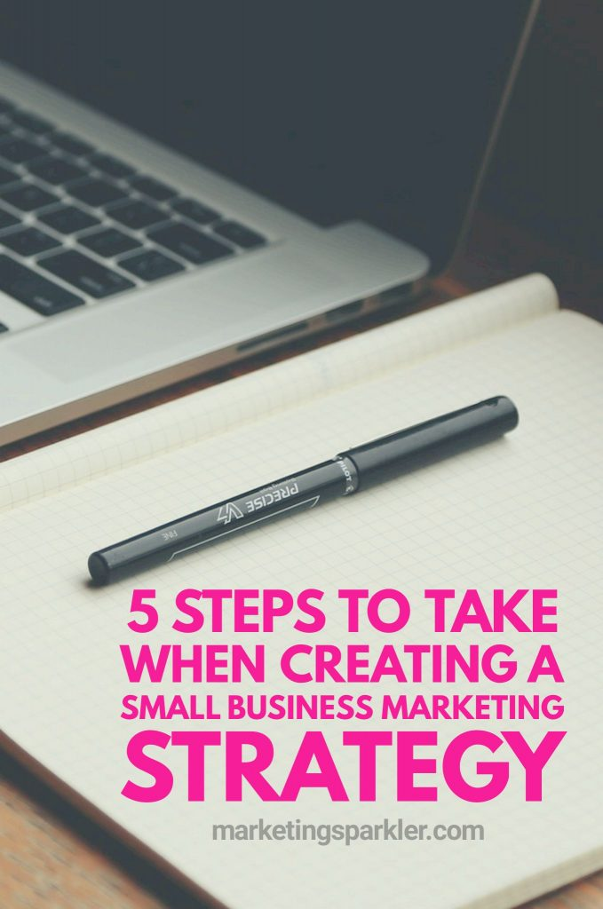 5 Steps Create Small Business Marketing Strategy