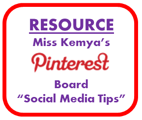 Pinterest Board - Social media tips