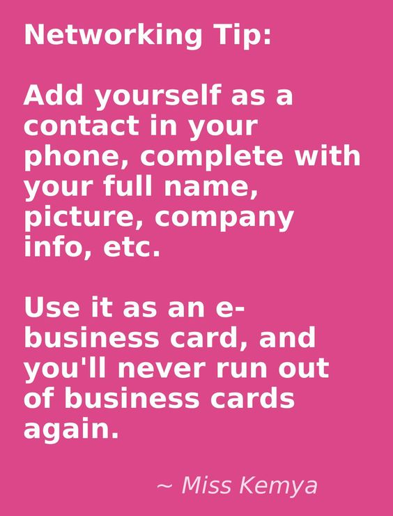 Networking Tip Never Run Out of Business Cards