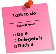 Do it Delegate it Ditch it