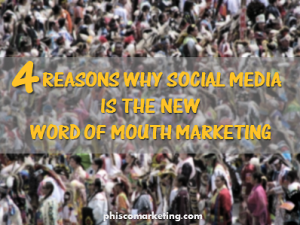 social media is word of mouth marketing