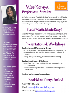 Miss Kemya Speaker One Sheet