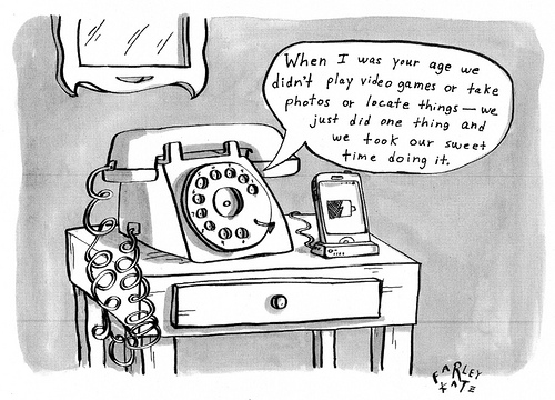 Rotary Phone Cartoon