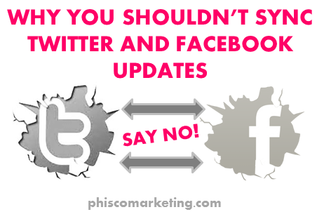 Why You Shouldn't Sync Twitter and Facebook