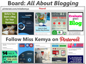 Pinterest Board Blogging Tips