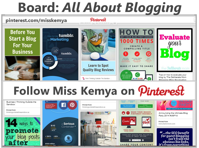 Follow Me on Pinterest for Blogging Tips and Resources