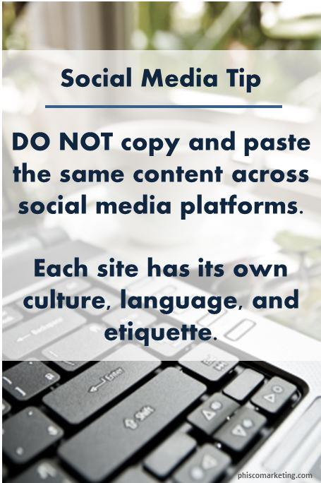 social media tip dont copy paste