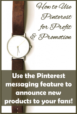 use Pinterest messaging