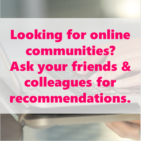 finding online community for women in businesss tip