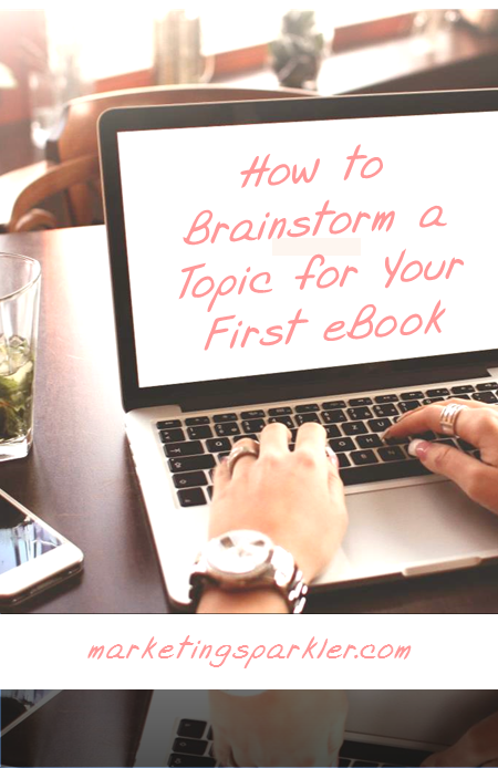 How to brainstorm a topic for your first ebook gives you a process to identify your ebook topic, figure out whether to write it yourself or outsource, plus ten tips for planning your ebook content.