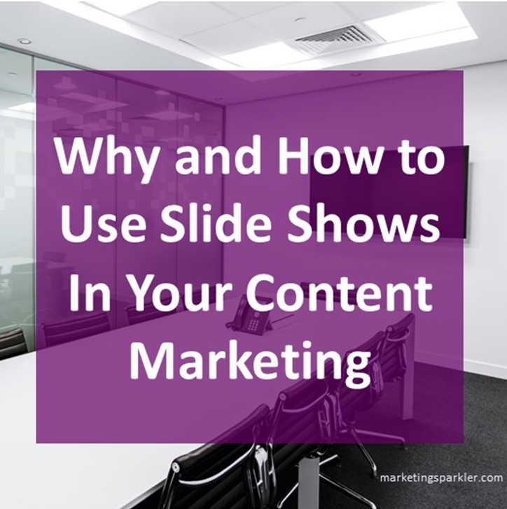 Slide Shows As a Content Marketing Tool Part 1 - Why and How to Use Slideshows in Your Content Marketing. Slideshows can be used as a way to educate your customers. Learn 5 ways to use slide shows as an educational tool in your content marketing.