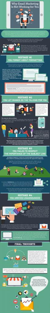 Email Marketing Infographic Why Email Marketing Is Not Working for You by Robly