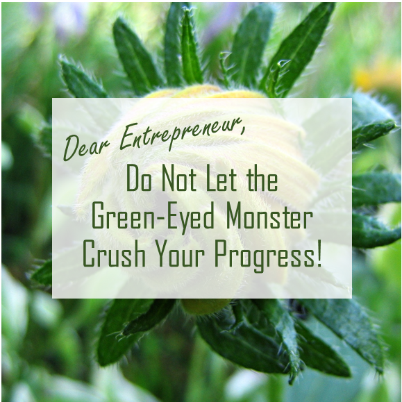 Do not let green eyed monster crush your progress