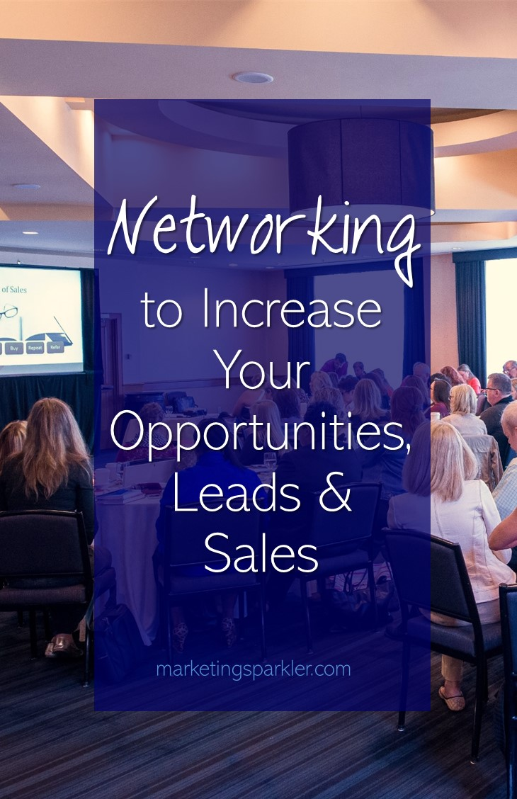 Are you Networking to Increase Your Opportunities Leads and Sales? Networking can occur anywhere if you communicate from a position of service to others.