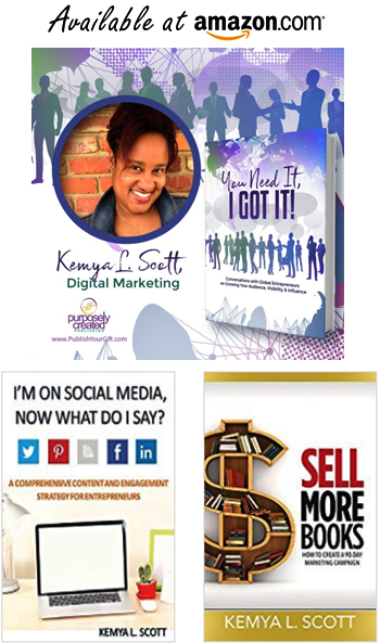 Amazon Author Page Kemya L Scott