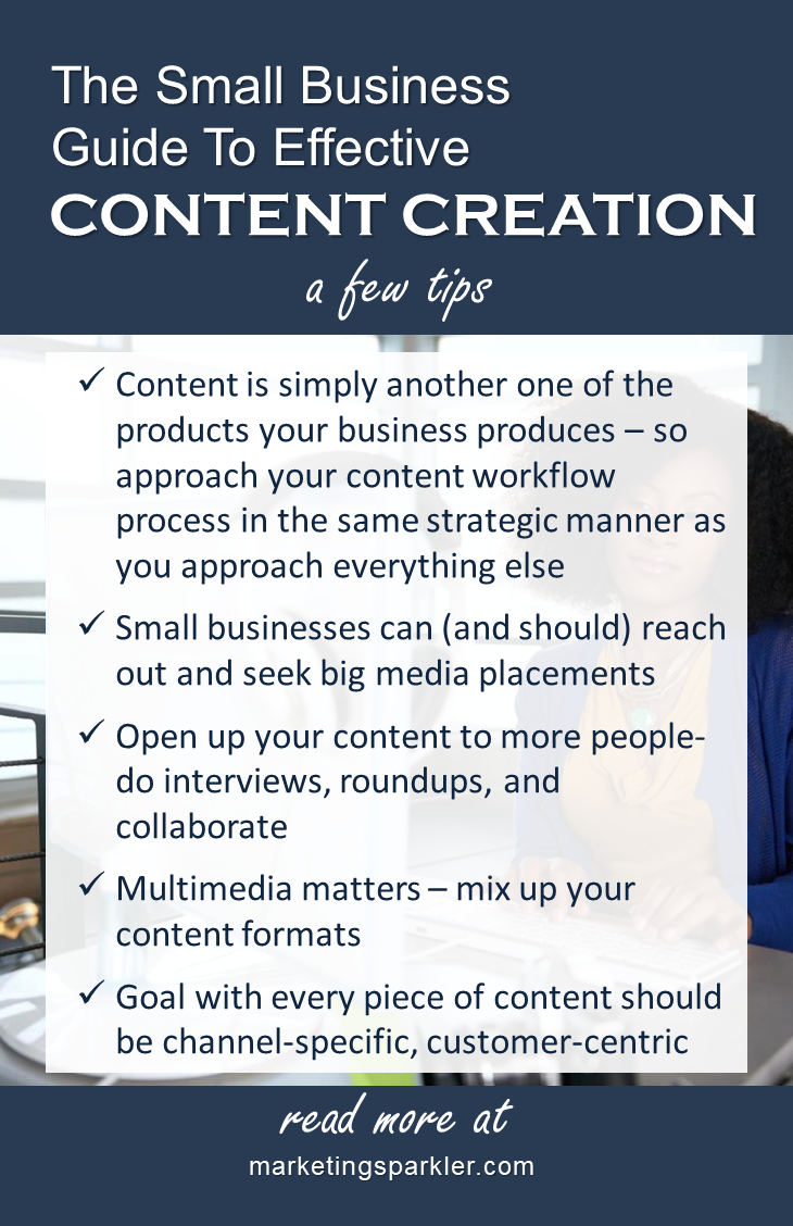 Small Business Guide to Effective Content Creation Infographic