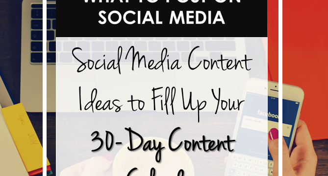 What To Post On Social Media [Infographic]