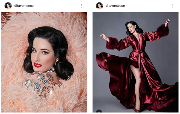 Your guide to instagram influencer marketing example dita von teese