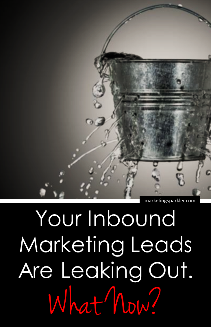 Your inbound marketing leads are leaking out. Now what? There are three common problems marketers face when generating inbound marketing leads, as discussed in this guest post by Raul Harman.