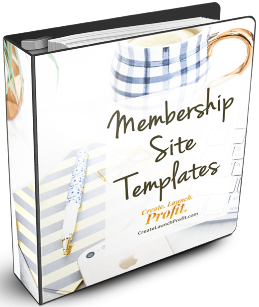 Membership Site Templates ring binder