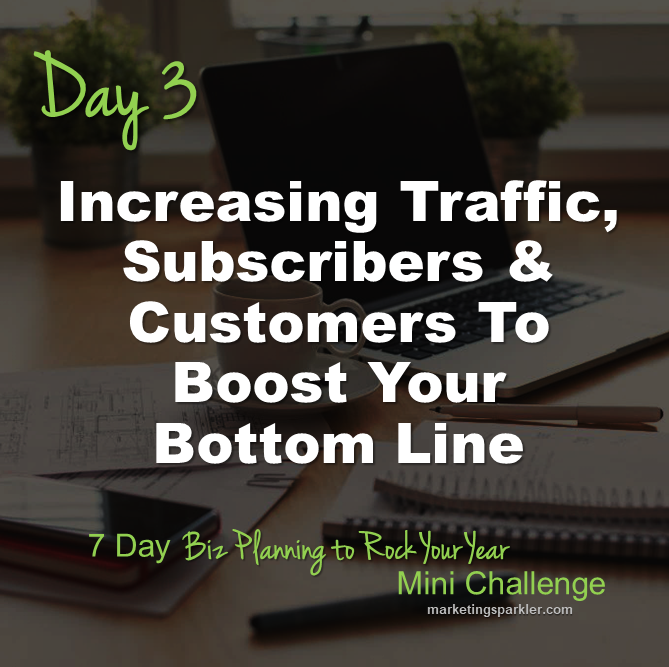 Day 3 Increasing Traffic Subscribers and Customers To Boost Your Bottom Line