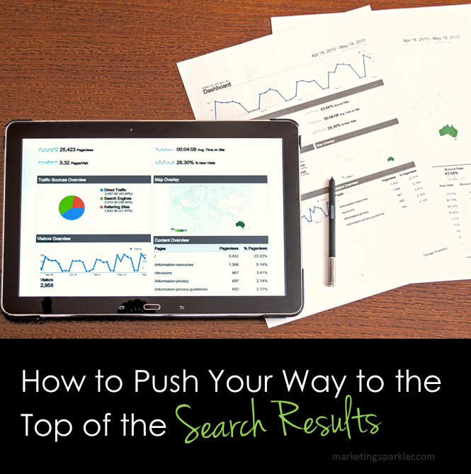 How to Push Your Way to the Top of the Search Results