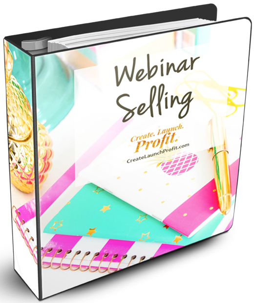 Webinar Selling ring binder