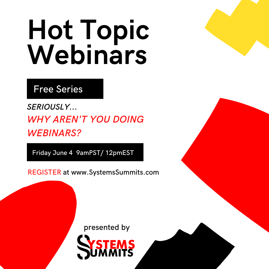 Seriously… Why Aren't you Doing Webinars?