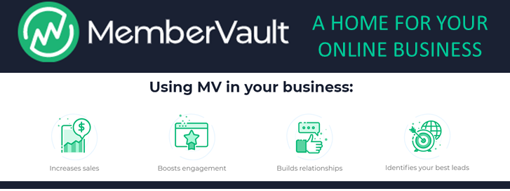 MemberVault.co home for your online business